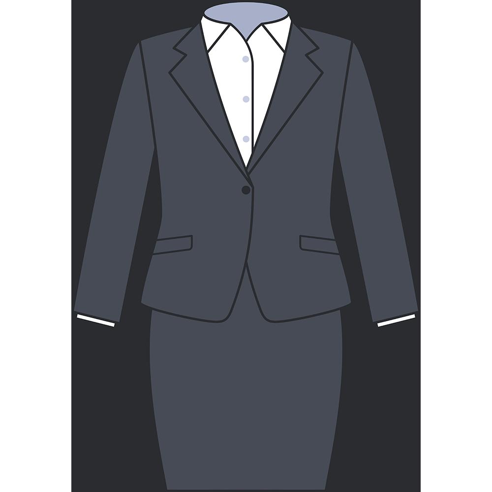 女性用スーツ(スカート)のイラスト【無料・フリー】