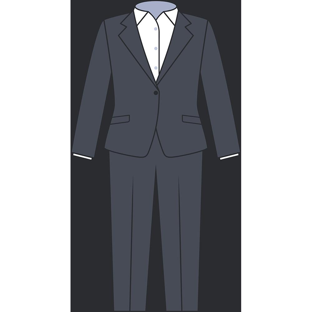 女性用スーツ(ズボン)のイラスト【無料・フリー】