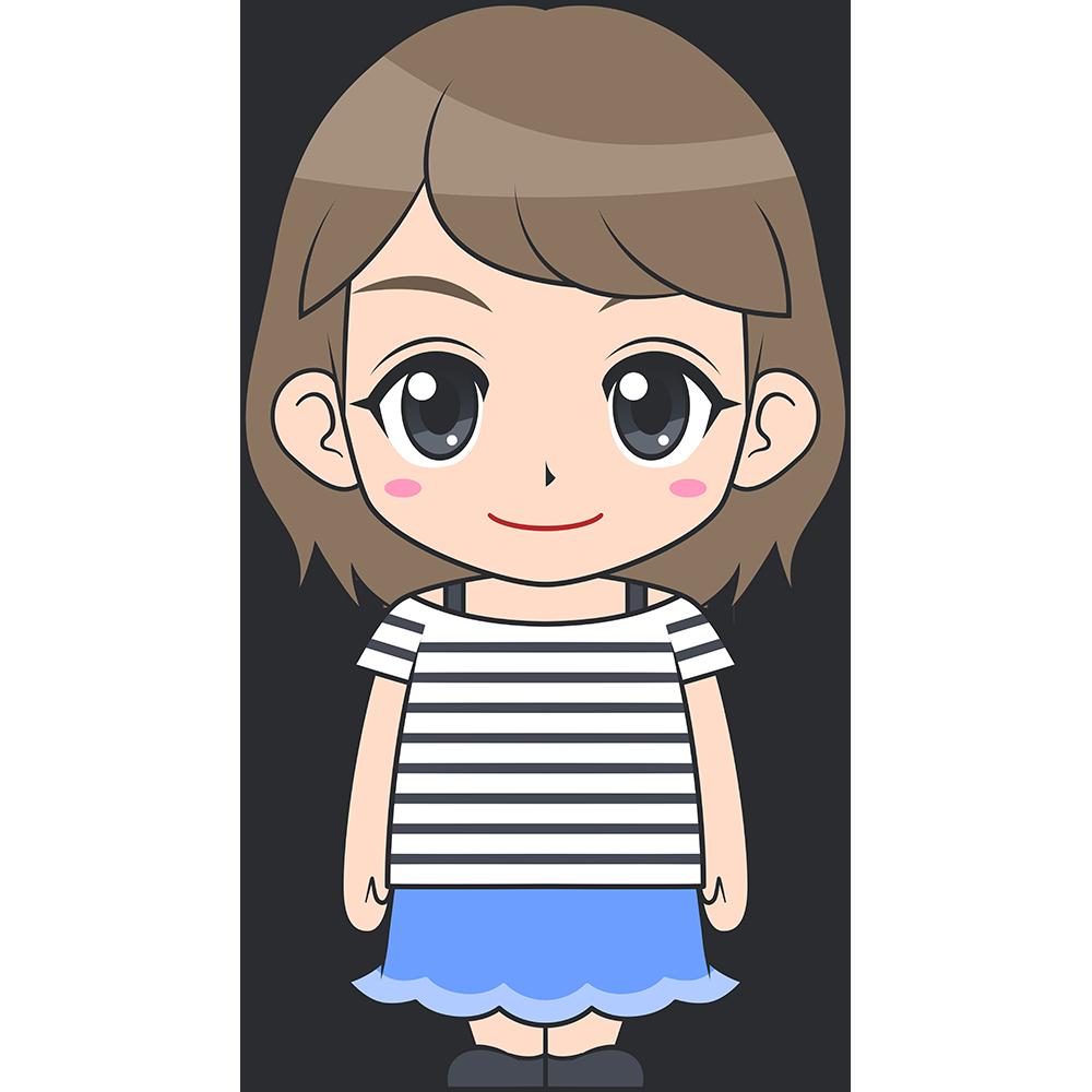 若い女性のイラスト【無料・フリー】