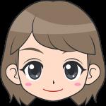 若い女性の顔イラスト【無料・フリー】