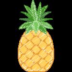 パイナップルの手書きイラスト【無料・フリー】