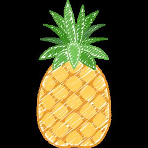 パイナップルの手書きイラスト
