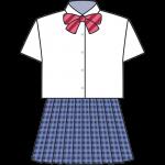 女子高生のブレザー(夏服)のイラスト【無料・フリー】