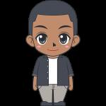 若い黒人男性のイラスト【無料・フリー】