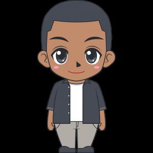 若い黒人男性