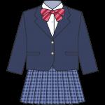女子高生のブレザー(冬服)のイラスト【無料・フリー】