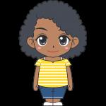 若い黒人女性のイラスト【無料・フリー】