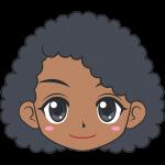若い黒人女性の顔イラスト【無料・フリー】