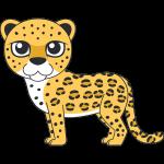 ヒョウ(豹)のイラスト【無料・フリー】
