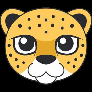ヒョウ(豹)の顔