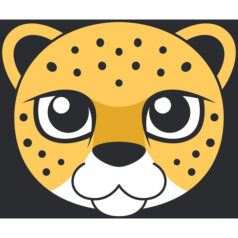 ヒョウ(豹)の顔イラスト【無料・フリー】
