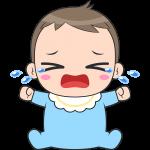 泣いている赤ちゃんのイラスト【無料・フリー】