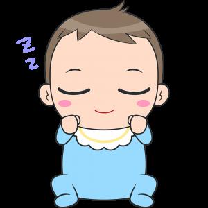 寝ている赤ちゃんのイラスト【無料・フリー】