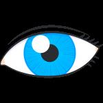 青い目のイラスト【無料・フリー】