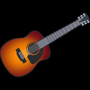 アコースティックギターのイラスト【無料・フリー】