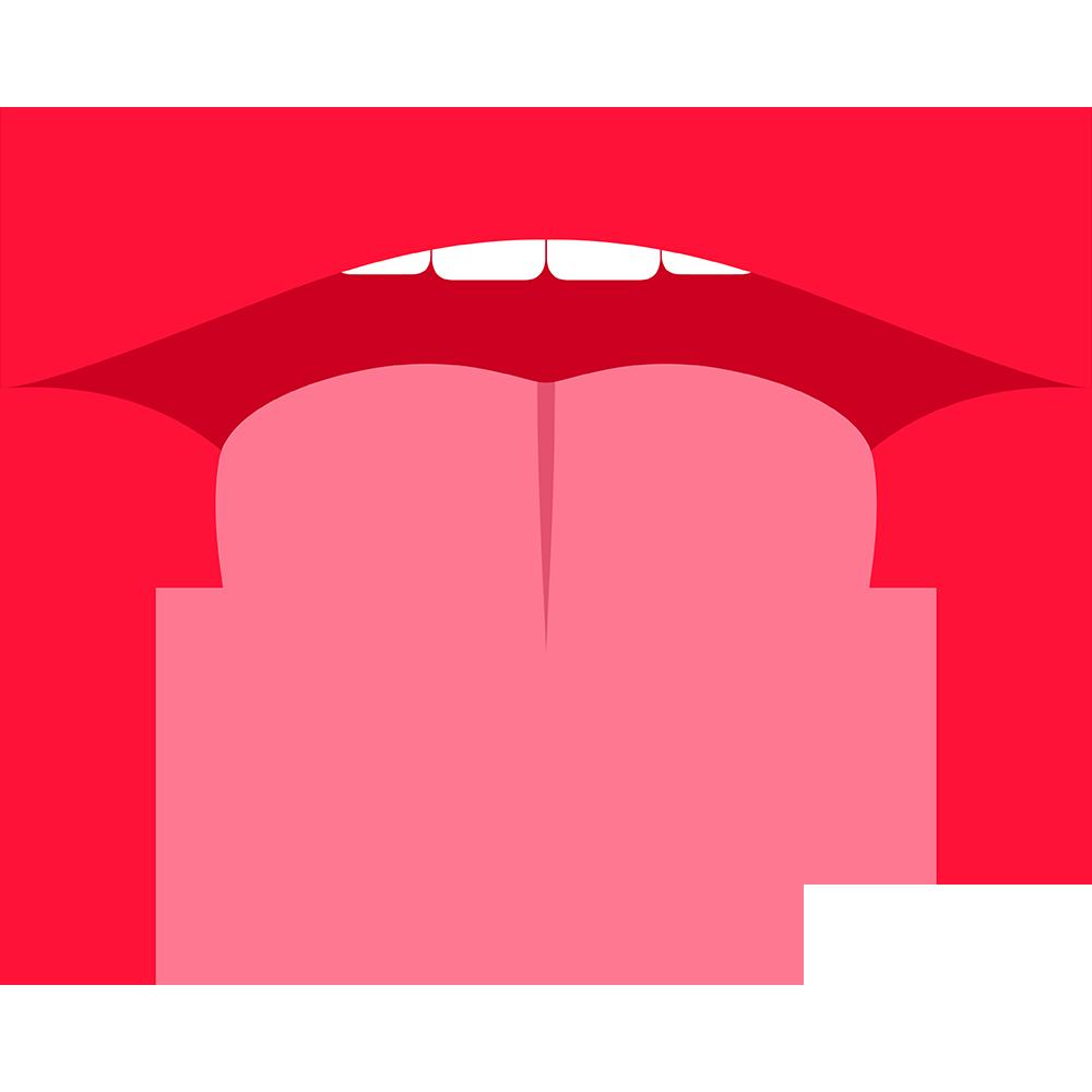 舌を出す口の無料イラスト