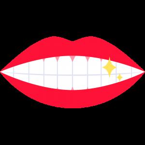 輝く歯のイラスト【無料・フリー】