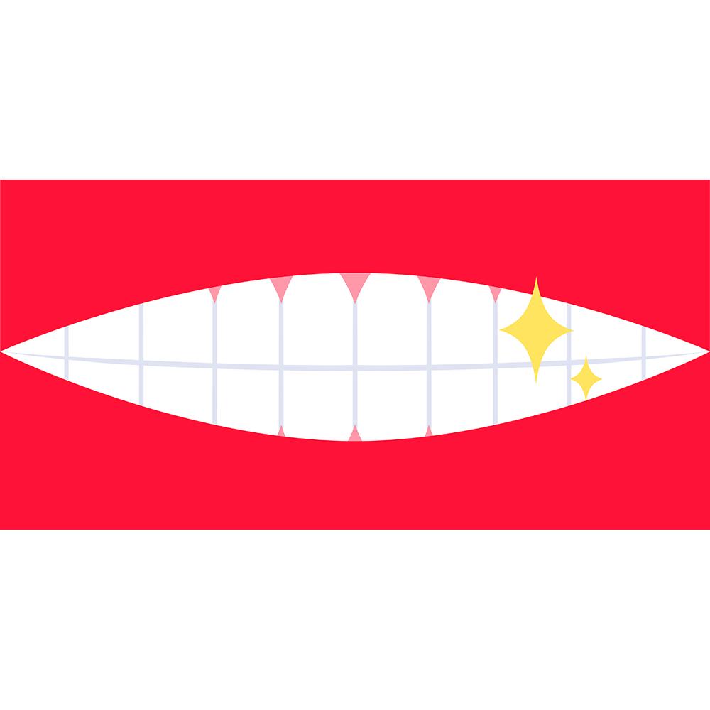 輝く歯の無料イラスト