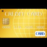 ゴールドのクレジットカードのイラスト【無料・フリー】