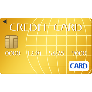 ゴールドのクレジットカード