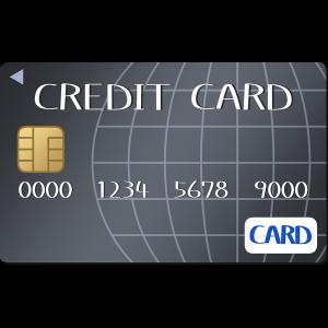 ブラックのクレジットカードのイラスト【無料・フリー】