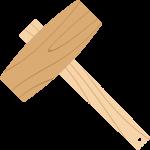 木槌のイラスト【無料・フリー】