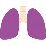 不健康な肺のイラスト【無料・フリー】