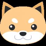 柴犬の顔(茶色-3)イラスト【無料・フリー】
