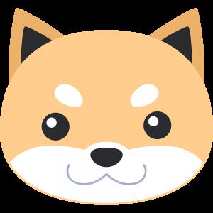 柴犬の顔(茶色-3)イラスト