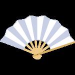 白い扇子のイラスト【無料・フリー】