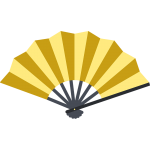 金の扇子のイラスト【無料・フリー】