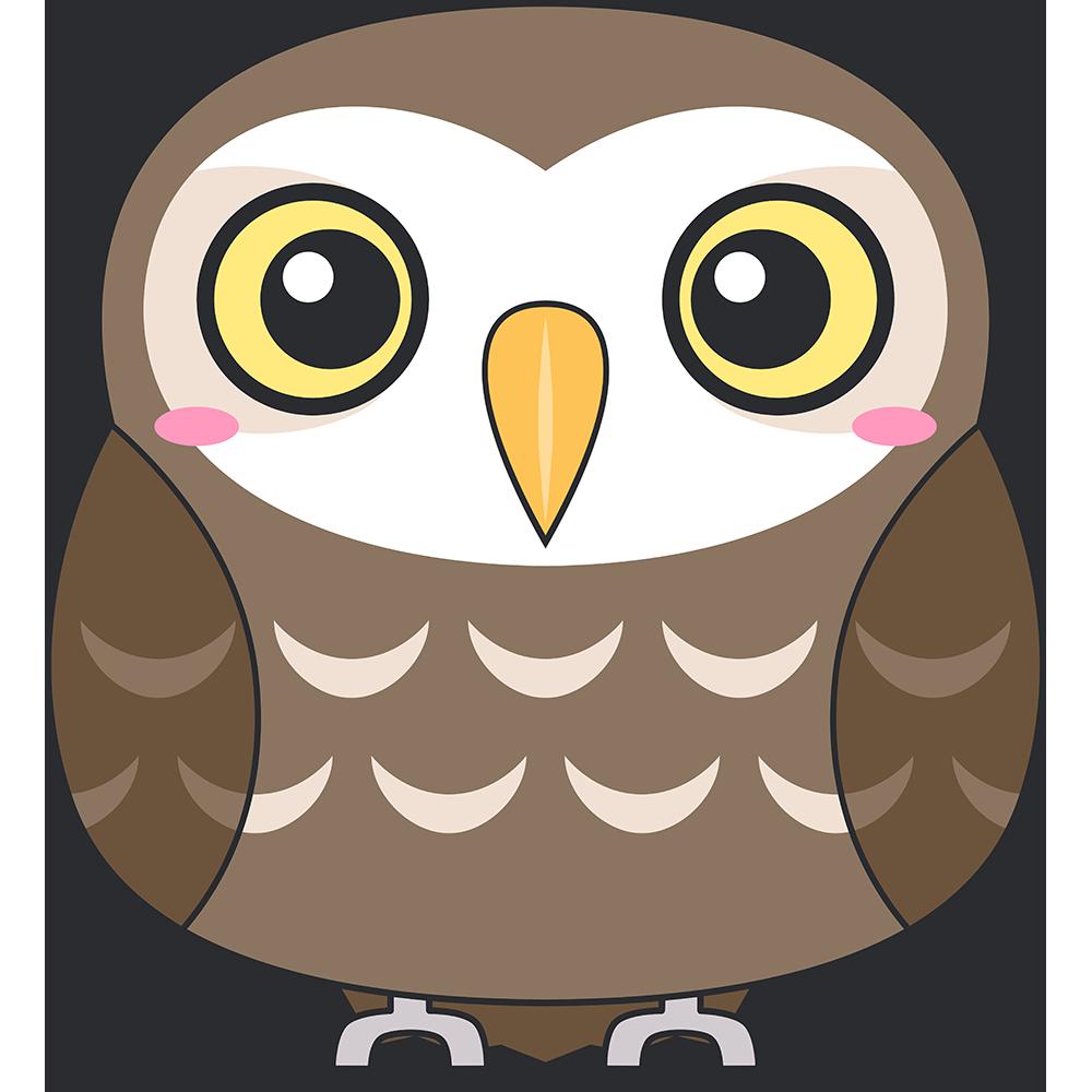 コキンメフクロウ(鳥)のイラスト【無料・フリー】