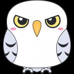 シロフクロウ(鳥)のイラスト【無料・フリー】