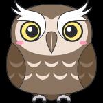 スピックスコノハズク(鳥)のイラスト【無料・フリー】