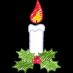 クリスマスキャンドル・ろうそくの手書きイラスト