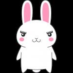 ウサギのイラスト(ラビ子)【無料・フリー】
