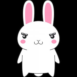ウサギのラビ子のイラスト【無料・フリー】