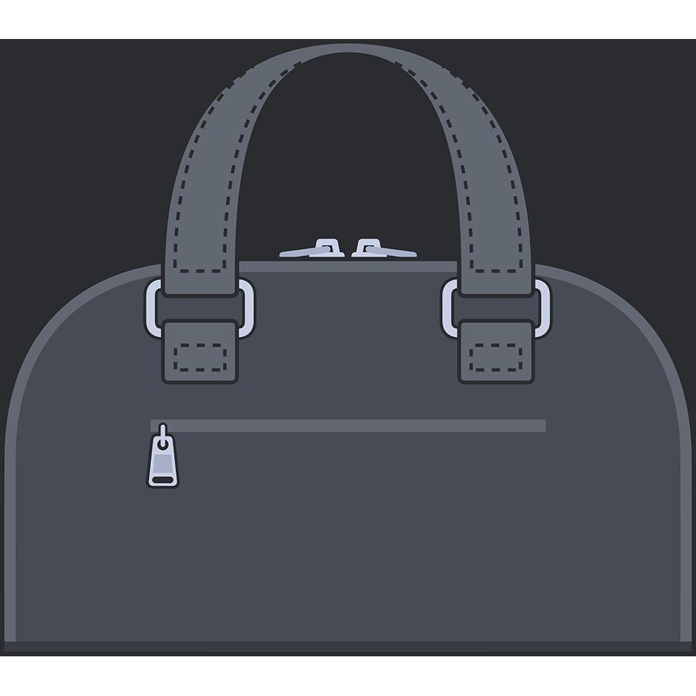 ボストンバッグ(鞄)のイラスト【無料・フリー】