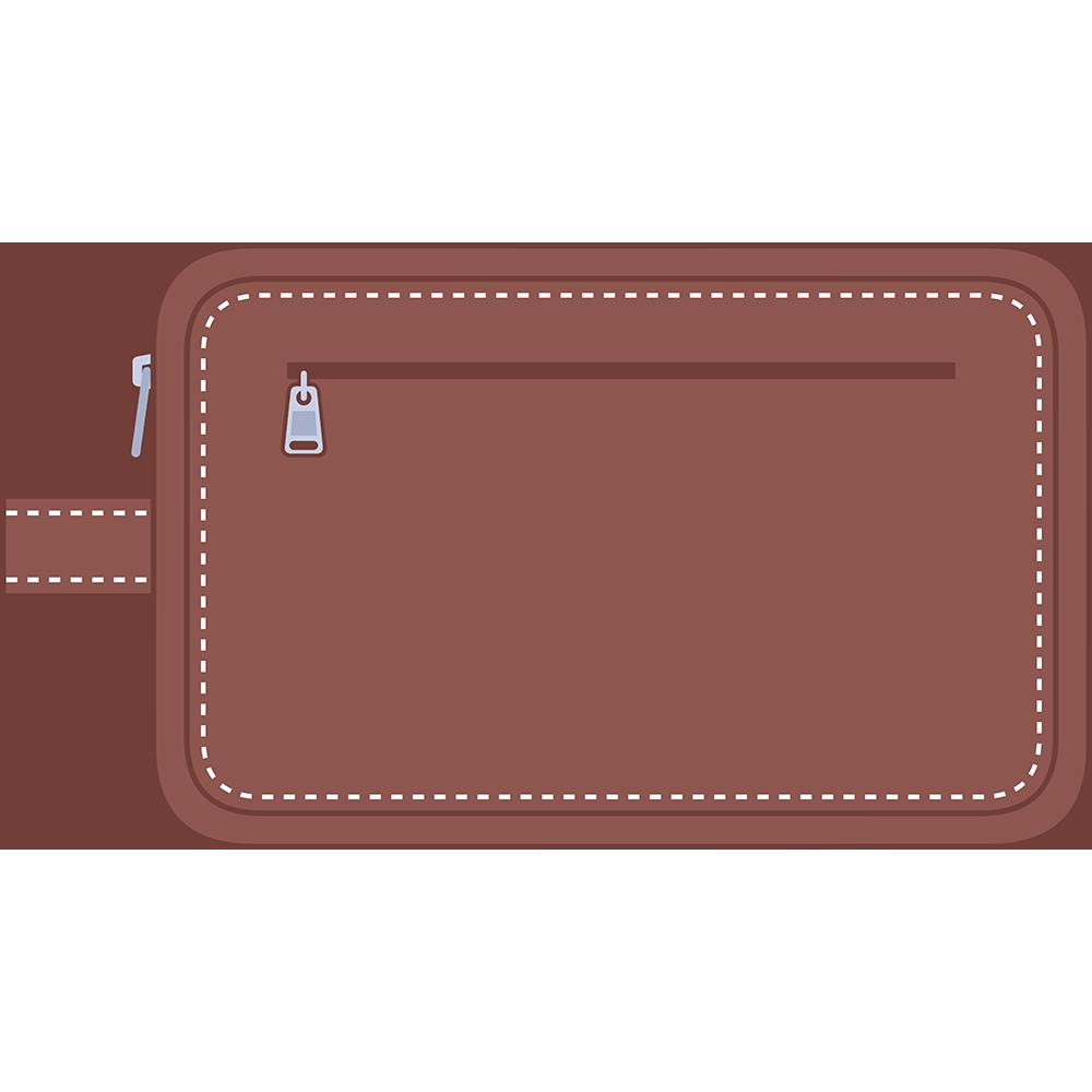 セカンドバッグ(鞄)のイラスト【無料・フリー】