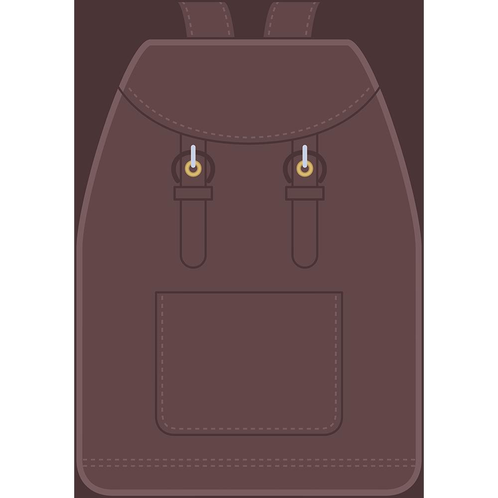 バックパック(鞄)のイラスト【無料・フリー】