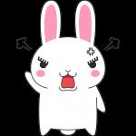 怒るウサギのイラスト(ラビ子)【無料・フリー】
