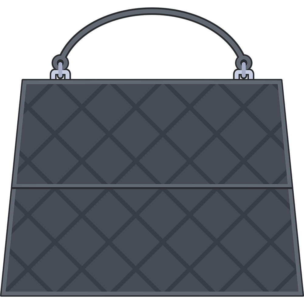 ハンドバッグ(鞄)のイラスト【無料・フリー】
