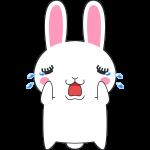 泣くウサギのイラスト(ラビ子)【無料・フリー】