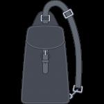 ボディバッグ(鞄)のイラスト【無料・フリー】