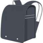黒のランドセル(鞄)のイラスト【無料・フリー】