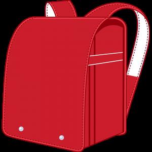 赤のランドセル(鞄)