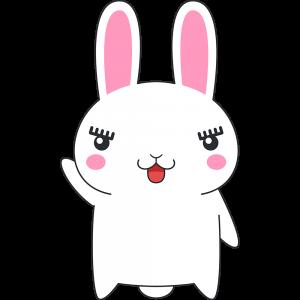 しゃべるウサギのイラスト(ラビ子)【無料・フリー】