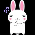 考えるウサギのイラスト(ラビ子)【無料・フリー】
