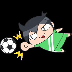 サッカーのゴールキーパーのイラスト【無料・フリー】