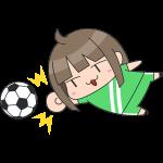 サッカー:女子ゴールキーパーのイラスト【無料・フリー】